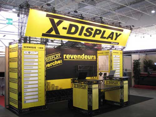 CrossWire beurs stand X-display France