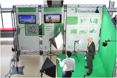 Mr. Greenscreen presentatiewand